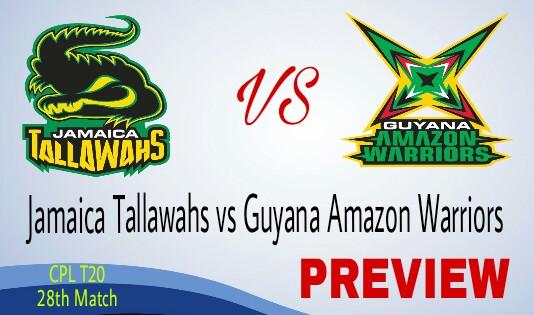 CPL T20 Jamaica Tallawahs vs GAW