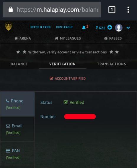Halaplay Account Verification