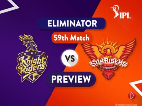 KOL vs HYD Dream11 Team   Kolkata vs Hyderabad Preview - Qualifier 2