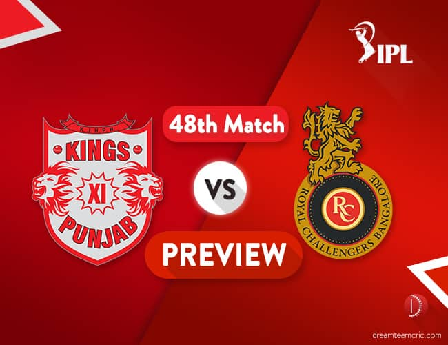 KXIP vs RCB Dream11 Team Prediction IPL Match 48: Preview   Yet another do or die for RCB