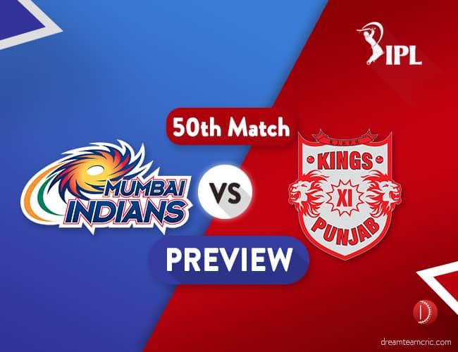 MI vs KXIP Dream11 Team Prediction IPL Match 50: Preview   Hopes for Playoffs Still Alive