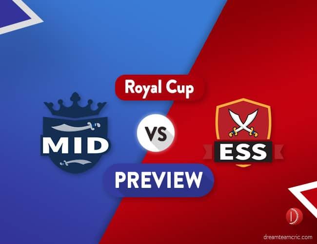 MID vs ESS Dream11 Team & Probable 11 : Preview
