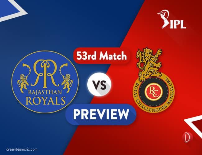 RR Vs RCB Dream11 Team | Rajasthan Vs Bangalore Preview