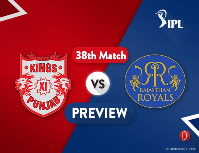 KXIP vs RR Dream11 Team Prediction IPL Match 38: Preview | Rajasthan Desperate for a Win