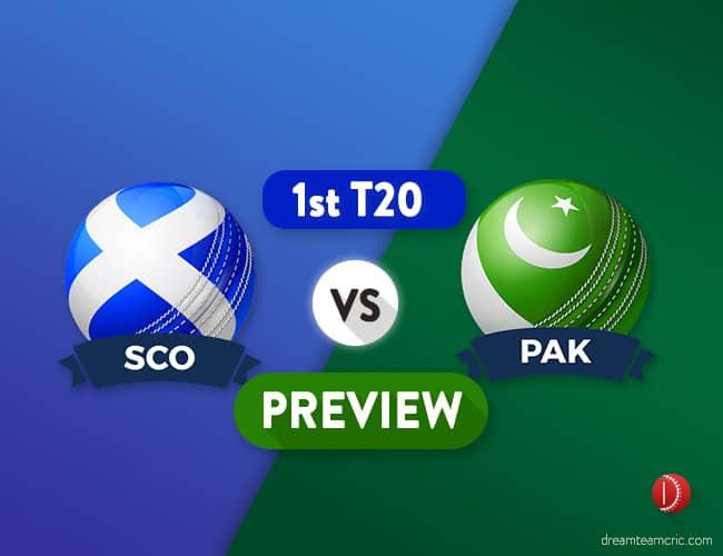 SCO vs PAK Dream11 Team Prediction for 1st T20