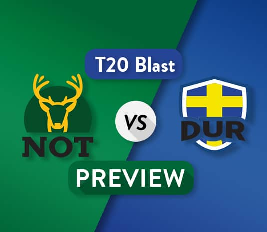DUR VS NOT Dream11 Team Prediction and Probable XI: Preview   Riki Wessels is Back