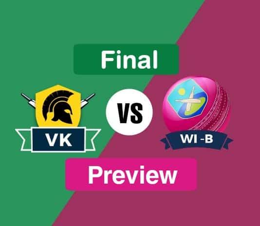 VK vs WI B Dream11