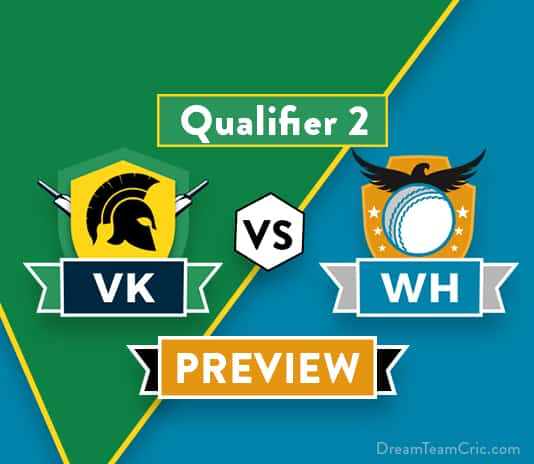 VK vs WH Dream11 Team Prediction and Probable XI: Preview | The Qualifier 2