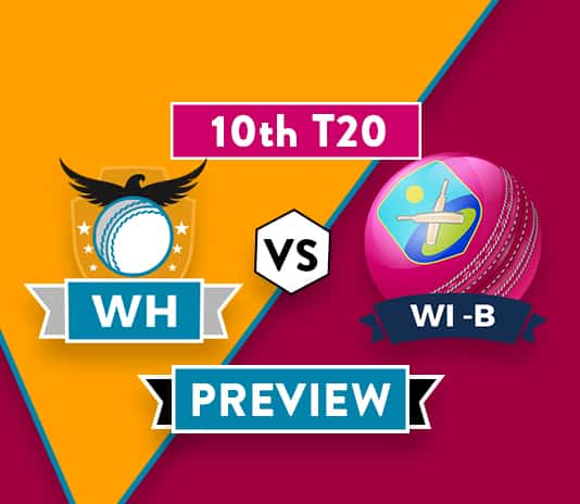 WH vs WI-B Dream11 Team Prediction and Probable XI: 10th T20 Preview| Dwayne Bravo Injured
