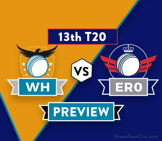 WH vs ERO Dream11 Team Prediction: Preview| Will Warner's bad patch end?