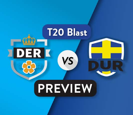 DER vs DUR T20 Dream11 Team Prediction : Preview | North Group battle