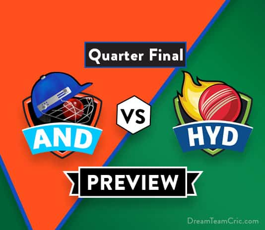 AND vs HYD Dream11 Team Prediction : Preview | Rayudu, Vihari, Siraj will play