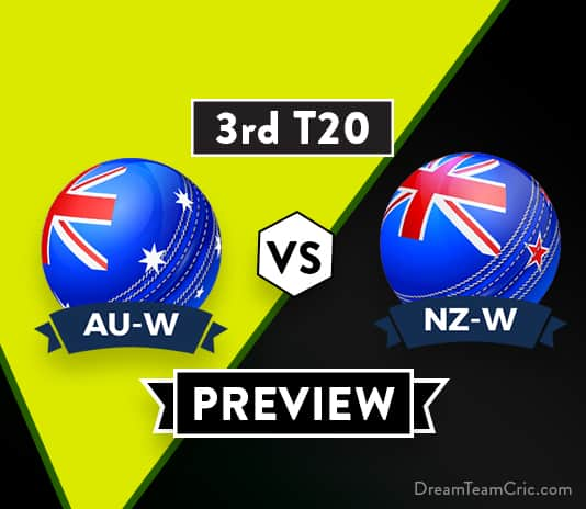 AU-W VS NZ-W 3rd T20I Dream11 Team Prediction and probable XI: Preview| Australia to play a debutant