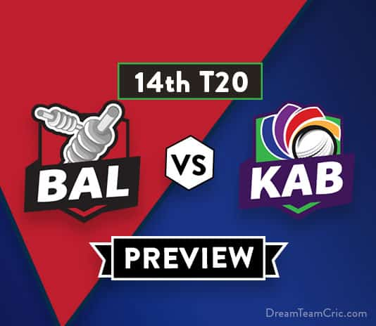 BAL vs KAB Dream11 Team Prediction of Afghanistan Premier League: Preview