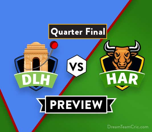 DLH vs HAR Dream11 Team Prediction : Preview | Himmat Singh returns