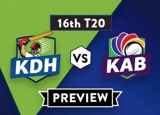 KDH vs KAB Dream 11 Team Prediction of Afghanistan Premier League: Preview