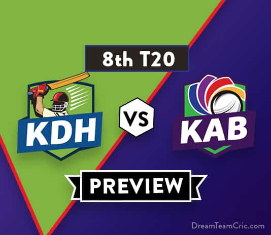 KDH vs KAB Dream11 Team Prediction of Afghanistan Premier League: Preview