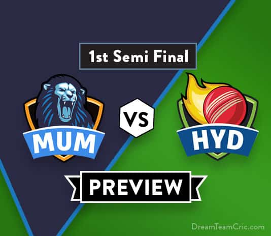 MUM vs HYD Dream11 Team Prediction : Preview | Prithvi Shaw and Rahane will play