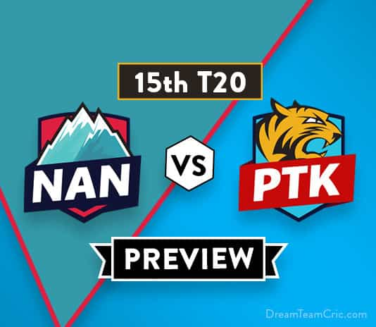 NAN vs PTK Dream11 Team Prediction of Afghanistan Premier League: Preview