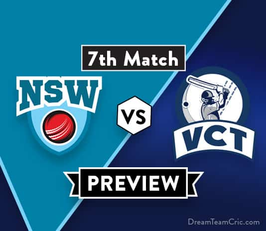 NSW VS VCT Dream11 Team Prediction of Aussie ODD Cup: Preview | Chris Green added in NSW squad