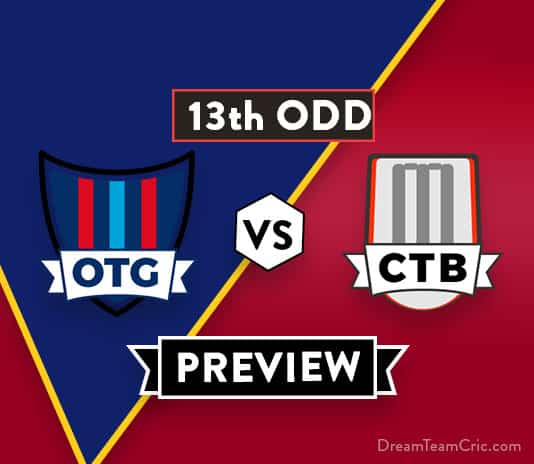 OTG vs CTB 13th ODD Dream11 Team Prediction of The Ford Trophy 2018: Preview