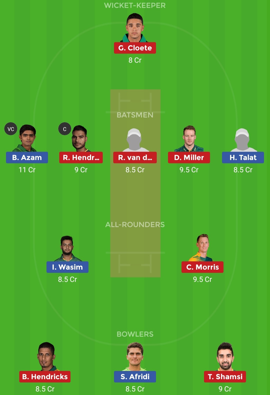 PAK vs SA Dream11 Team