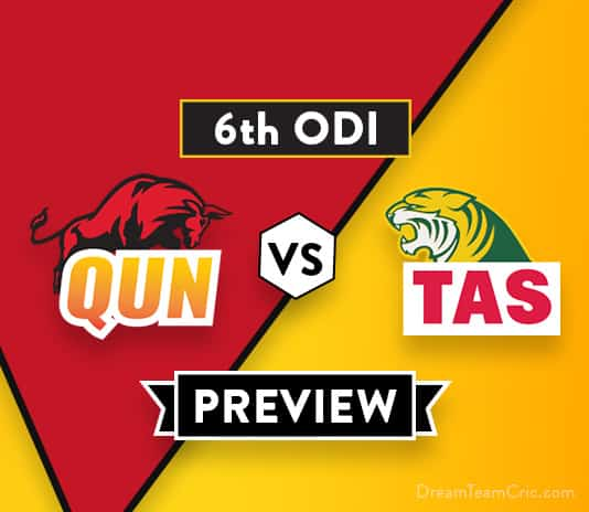 QUN VS TAS Dream11 Team Prediction : Preview | A Fiery Encounter