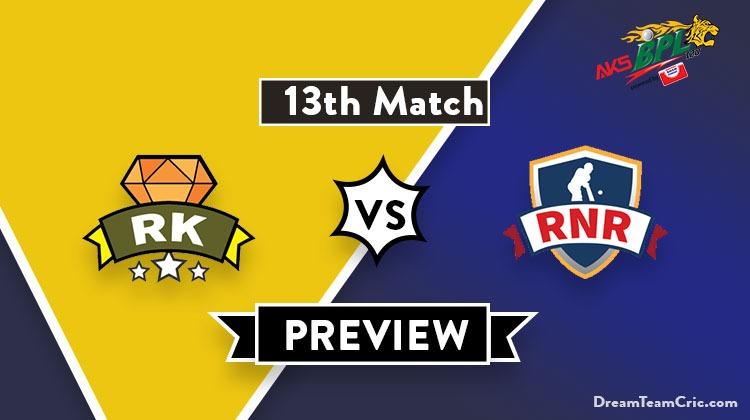 RK vs RNR Dream11