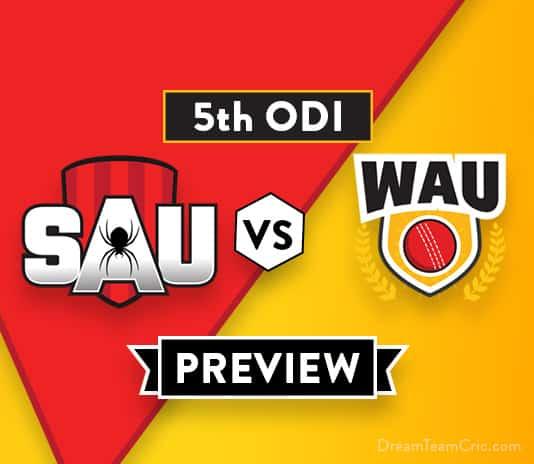 SAU VS WAU Dream11 Team Prediction of Aussie ODD Cup: Preview