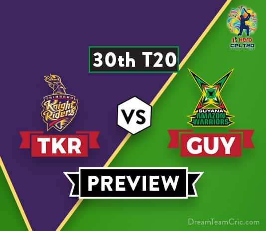 TKR vs GUY Dream11 Prediction: Preview   Colin Ingram in for Chris Lynn